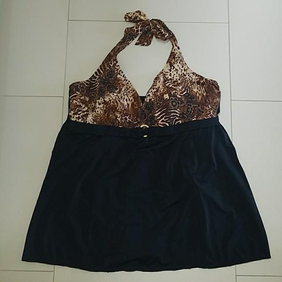 292ac9604e06f Jaclyn Smith Other - Jaclyn Smith 26W Halter Swim Dress Bathing Suit